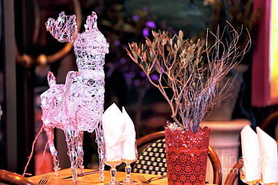 Reindeer On The Table Art Print