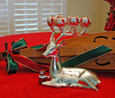 Photograph - Reindeer Reflections by Ginger Wakem