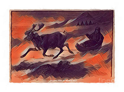 Digital Art - Reindeer Ride by Art MacKay
