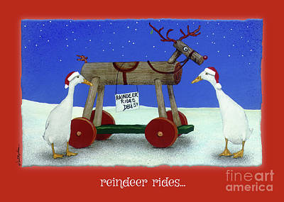 Painting - Reindeer Rides... by Will Bullas