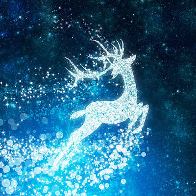 Animals Royalty-Free and Rights-Managed Images - Reindeer stars by Setsiri Silapasuwanchai