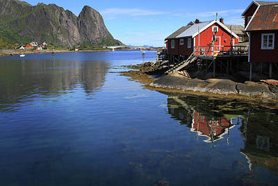 Digital Art - Reine, Norway by Lisa Redfern