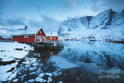 Photograph - Reine Rorbuer Twilight View by JR Photography