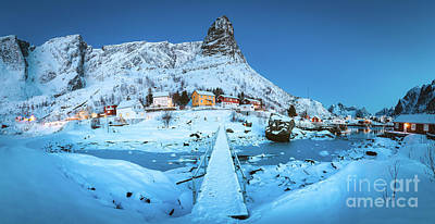 Photograph - Reine Winter Panorama by JR Photography