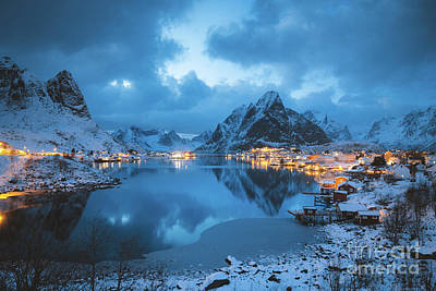 Photograph - Reine Winter Twilight by JR Photography