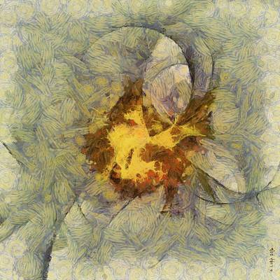 Light Goldenrod Painting - Reinflaming Combination  Id 16099-215910-64590 by S Lurk