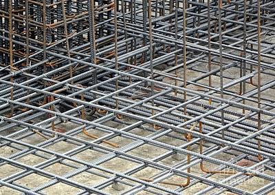Photograph - Reinforced Steel Bars by Yali Shi