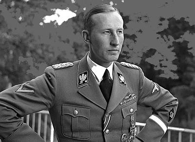 Reinhard Heydrich Circa 1940 Color Added 2016 Art Print by David Lee Guss