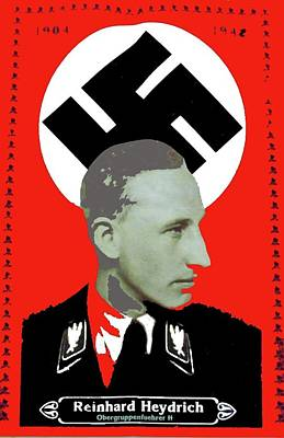 Reinhard Heydrich  Nazi Memorial 1942 Color Added 2016 Art Print by David Lee Guss
