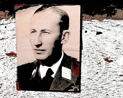 Reinhard Heydrich  Portrait Inserted Circa 1940 Color Added 2016 Art Print by David Lee Guss