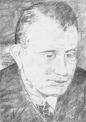 Reinhard Drawing - Reinhard Suhren by Dennis Larson