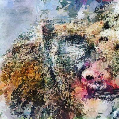 Digital Art - Reinterpreting Monkeys No. 3 by Matthew Daigle