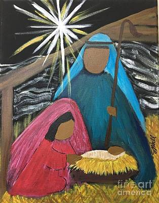 Painting - Rejoice A Child Is Born by Sheila J Hall
