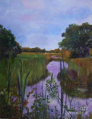 Nature Center Painting - Rekindling Memories At Loxahatchee by Donna Walsh