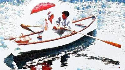 Row Boat Digital Art - Relation Ship In Fragments by Catherine Lott