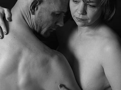 Nude Wife Photograph - Relationship Bnw by Robert Gebbie