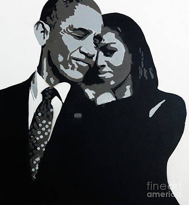 Michelle Obama Painting - Relationship Goals by Art
