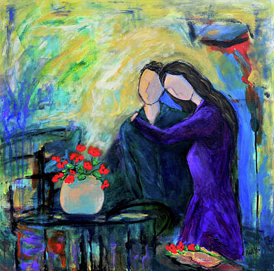 Painting - Relationship by Haleh Mahbod