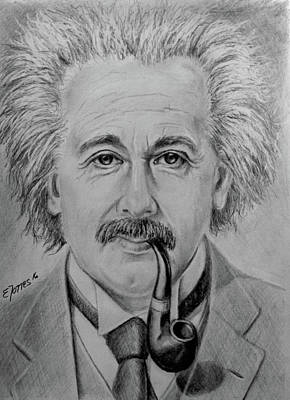 Drawing - Relativity by Edgar Torres