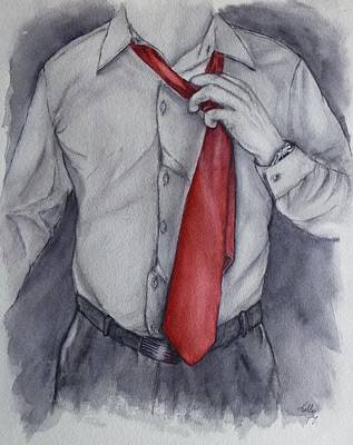 Painting - Relax And Loosen Your Tie by Kelly Mills