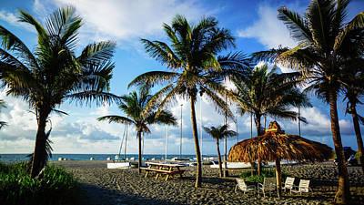 Photograph - Relax Beneath The Tiki Hut Delray Beach Florida by Lawrence S Richardson Jr