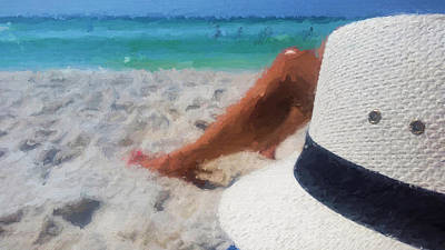 Relax In South Walton Art Print by JC Findley