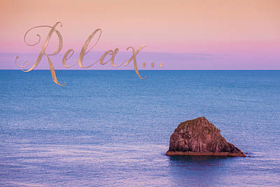 Copper Sunset Mixed Media - Relax, Inspiring, Peaceful Coastal Sentiment Art by Tina Lavoie
