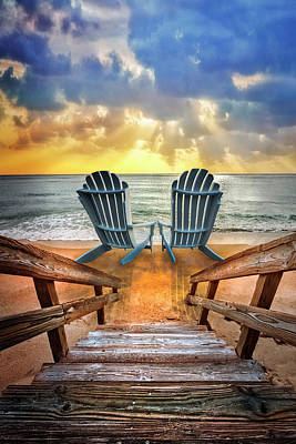 Photograph - Relaxation Ahead Just Have A Seat by Debra and Dave Vanderlaan