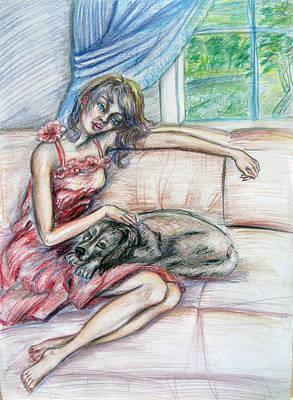 Relaxation  Art Print by Yelena Rubin