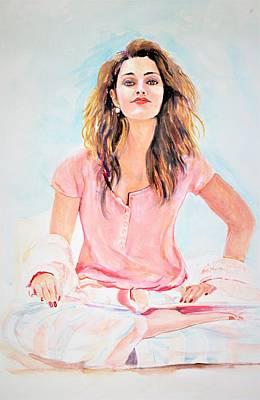 Painting - Relaxed by Khalid Saeed