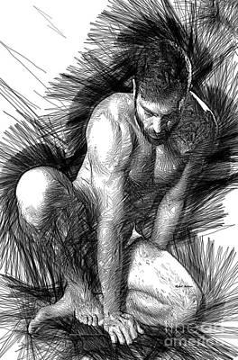 Digital Art - Relaxed Pose by Rafael Salazar