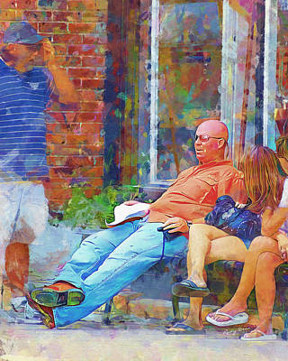 Painting - Relaxin Cowboy by Ricky Dean