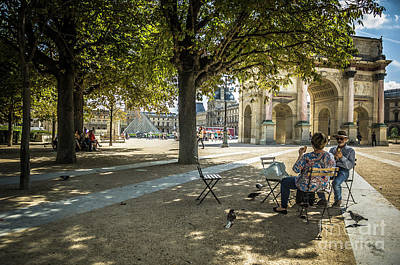 Photograph - Relaxing Afternoon In Paris by Paul Warburton