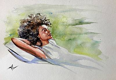 Painting - Relaxing Afternoon by Katerina Kovatcheva