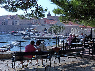 Photograph - Relaxing At Dubrovnik Old Harbour by Phil Banks