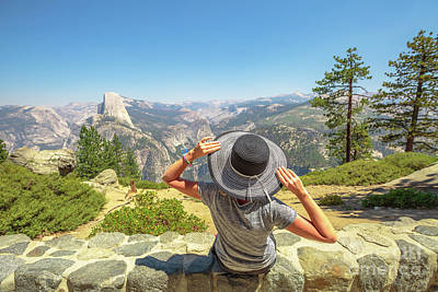 Photograph - Relaxing At Glacier Point by Benny Marty