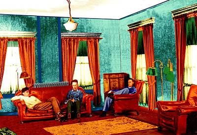 Digital Art - Relaxing At The Telechron Club House by Cliff Wilson