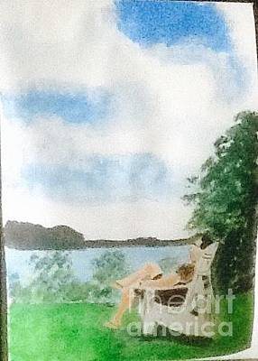 Painting - Relaxing by Audrey Pollitt