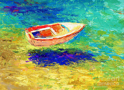 Boats In Water Drawing - Relaxing Getaway by Svetlana Novikova