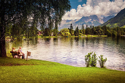 Photograph - Relaxing In The Shade By Lake Zell by Alex Saunders