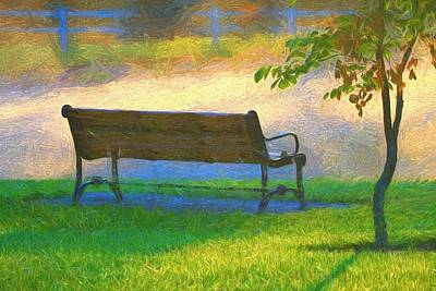 Park Scene Painting - Relaxing Morning Country Scene by Dan Sproul