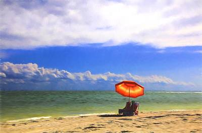 Digital Art - Relaxing On Sanibel by Sharon Batdorf