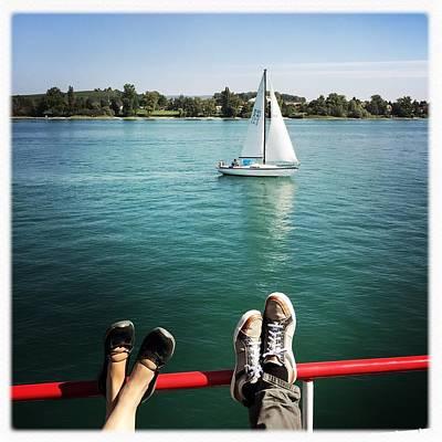 Transportation Photograph - Relaxing Summer Boat Trip by Matthias Hauser