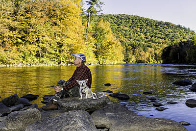 Photograph - Relaxing With My Buddy by Fran Gallogly