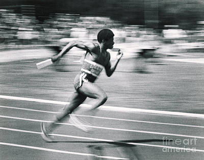 Relay Runner Art Print by Jim Wright