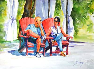 Painting - Relaxing Afternoon by Betty M M   Wong
