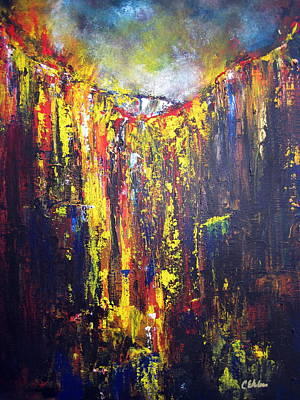 Lava Flow Painting - Release by Cheryl Ehlers