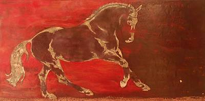 Encaustic Horse Painting - Releasing Energy by Gabrielle England