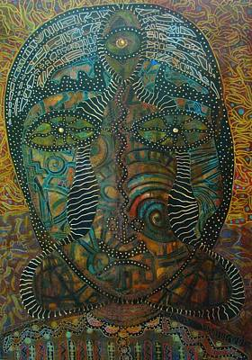Self-portrait Mixed Media - Releasing Kundalini by Alice Schwager