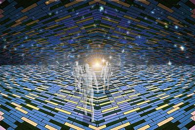 Digital Art - Relentless Advance Of Tomorrow by John Haldane